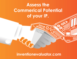 orange advertising image for the invention evaluator service