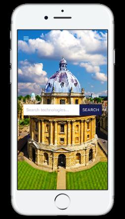 image of tekcapital IP search app on smart phone screen