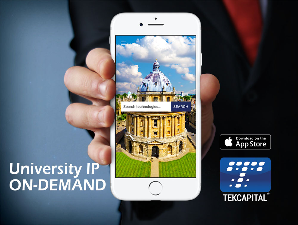 Download the Tekcapital IP Search App from the Apple App Store